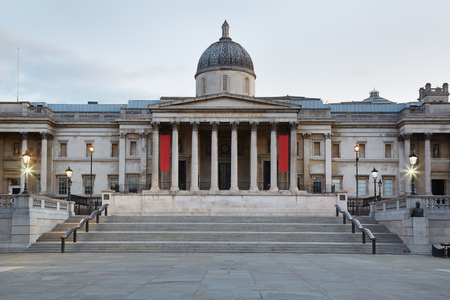 national cultures: The National Gallery building in the early morning in London, nobody Editorial