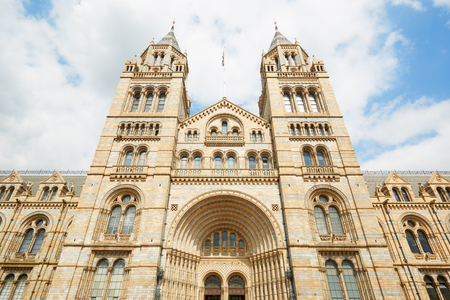 history building: Natural History Museum building facade in a sunny day in London