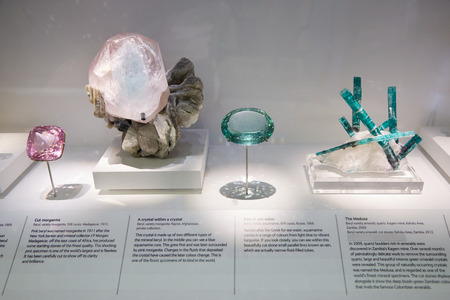 natural history museum: The vault in Natural History Museum mineral collection in London Editorial