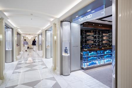 harrods: Harrods department store interior, perfumery area in London Editorial