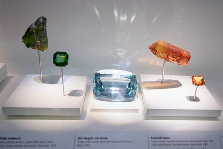 natural history museum: The vault in Natural History Museum, gems collection in London