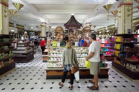 harrods: Harrods department store interior, candies and sweets area in London