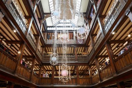 luxury goods: Liberty, luxury department store interior in Regent Street in London