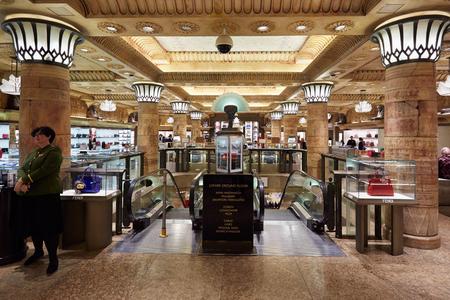 harrods: Harrods department store interior in London
