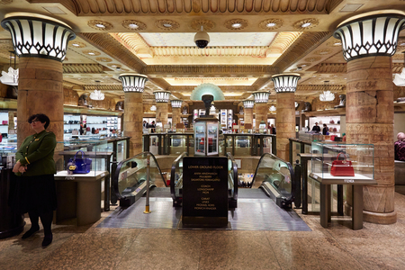 Harrods department store interior in London