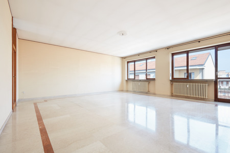 Empty living room with marble floor Stock Photo