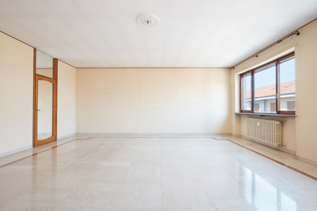 large: Large empty living room interior with marble floor