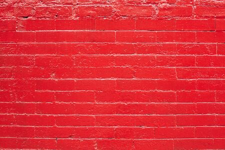 bricks background: Red painted bricks wall texture background