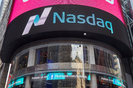 Nasdaq Marketsite in 4 Times Square on September 9, 2016 in New York. This is the marketing presence of the Nasdaq stock market.