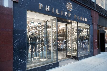eponymous: Philipp Plein store exterior in Madison Ave on September 12, 2016 in New York. Philipp Plein is a german fashion designer with eponymous brand.