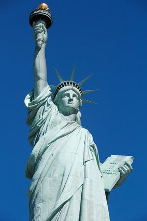 Vrijheidsbeeld in New York Stockfoto - 85409921