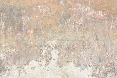 Old chipped and faded wall texture background