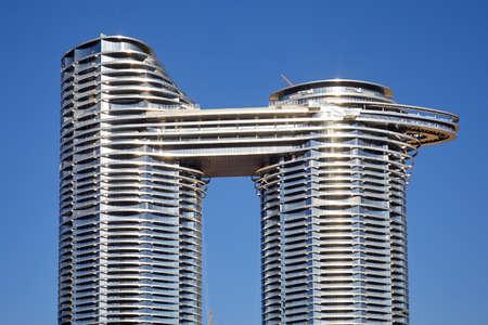 DUBAI, UNITED ARAB EMIRATES - NOVEMBER 22, 2019: Address Sky View luxury hotel in a sunny day, clear blue sky in Dubai Sajtókép