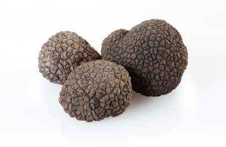 Black truffles isolated on white Stock fotó - 159088121