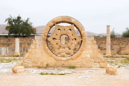 Hishams Palace Stone Decoration in the West Bank city of Jericho. Old city in Palestine, Israel