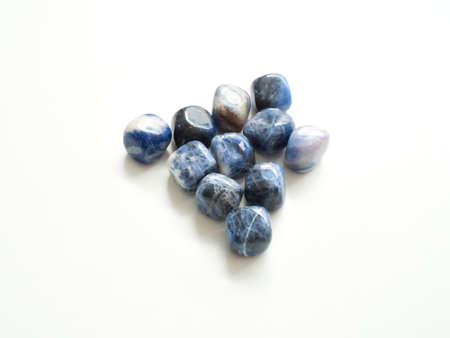 energy healing: Tumbled jasper stones for crystal therapy treatments and reiki from top