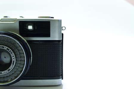 viewfinder vintage: Vintage compact camera viewfinder detail