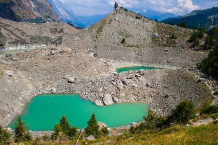 veny: Miage glacier lake