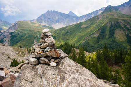 veny: Stoneman in a mountain landscape