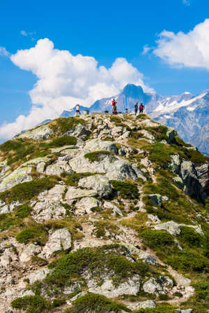 mont: Mont Blanc hiking Stock Photo