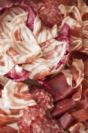 jambon: mix italian salumi Stock Photo