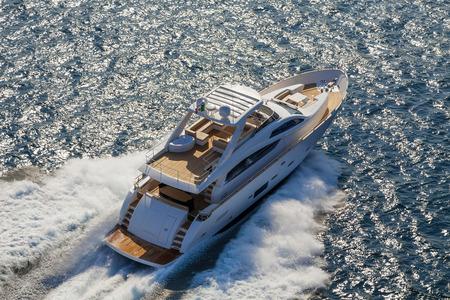 bow of boat: motor yacht Stock Photo