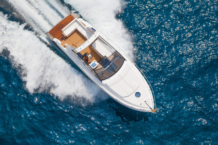 motor yacht Stock Photo