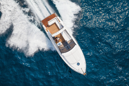 riches: motor yacht Stock Photo