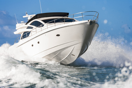 boat: motor yacht Stock Photo