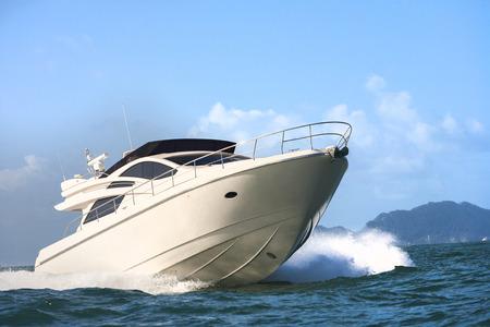 power boat: motor yacht Stock Photo