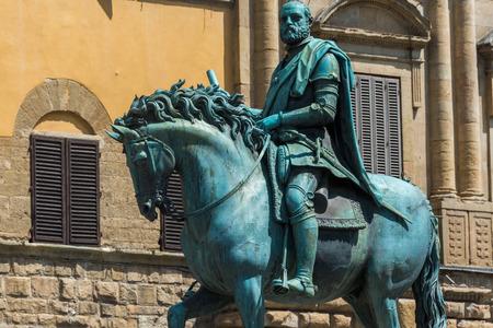 medici: The equestrian statue of Cosimo de Medici in Florence, Italy