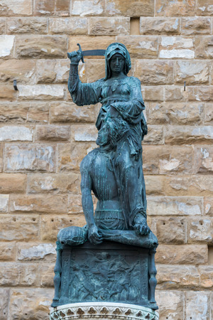 beheading: The statue of Judith and Holofernes, florence