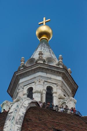 pinnacle: Pinnacle della cupola di Santa Maria del Fiore, Firenze, Italia