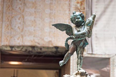 putto: Putto with Dolphin, florence, italy