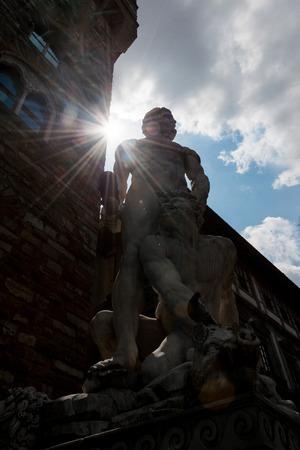 hercules: Hercules and Cacus statue at Piazza della Signoria i Florence, Italy.