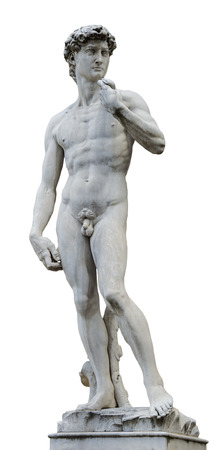 The statue of David by Michelangelo on the Piazza della Signoria in Florence, Italy Stock Photo