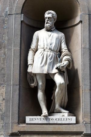 eminent: Benvenuto Cellini statue, Florence, Italy