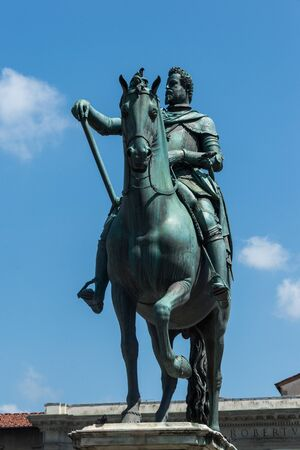 duke: Equestrian monument to Grand Duke Ferdinando I by Giambologna, Florence Stock Photo