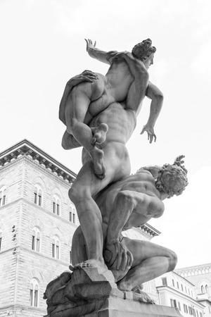 signoria square: The Rape of the Sabine Women, signoria square, florence, italy