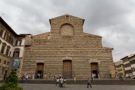 Florence, Italy, 04082014 - Facade of the church of San Lorenzo Editorial
