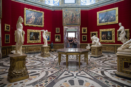 florence: FLORENCE, ITALY, - 05082014 : Uffizi Gallery, one of the main museums in Florence, Florence, Italy