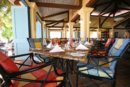 brasserie: Colorful restaurant interior Stock Photo