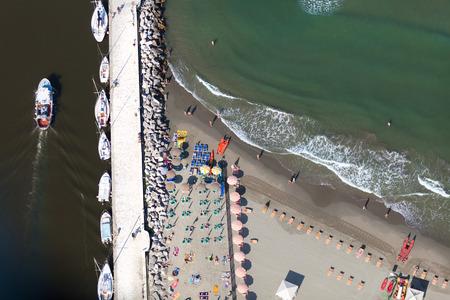 Versilia beach view from above