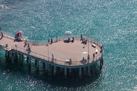 Pier view from above