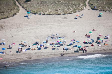 Versilia Strand Blick von oben Standard-Bild - 36522493