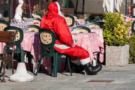 santa claus at the bar