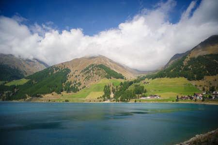 tyrol: Lake Val Senales at Vernago, south tyrol Stock Photo