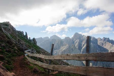 rosengarten: path of the Dolomites in Rosengarten