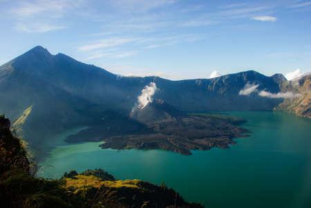 then: lake of Rinjani from then ridge.