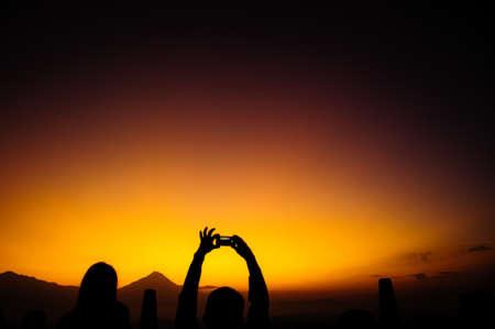 borobudur: borobudur sunrise, java, indonesia